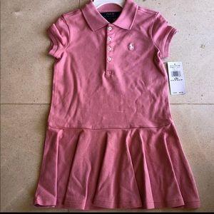 Polo Ralph Lauren Girl's Mesh Polo Dress 4/4T